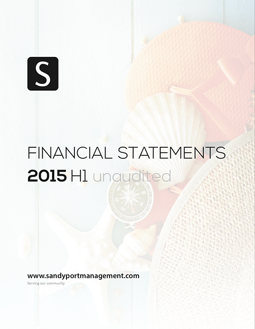 SHAL 2015 H1 Financial Statements