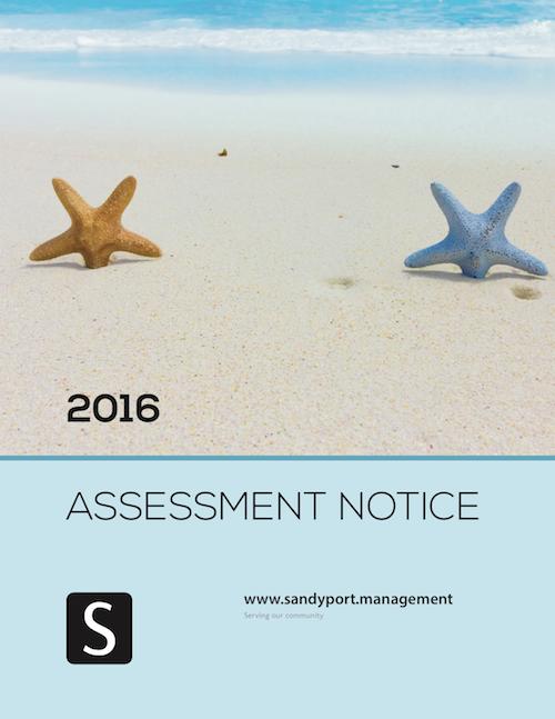 Sandyport 2016 Assessment Notice