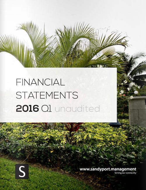 SHAL Financial Statements 2016 Q1